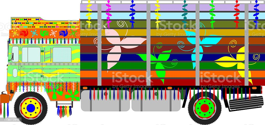Indian truck royalty-free stock vector art