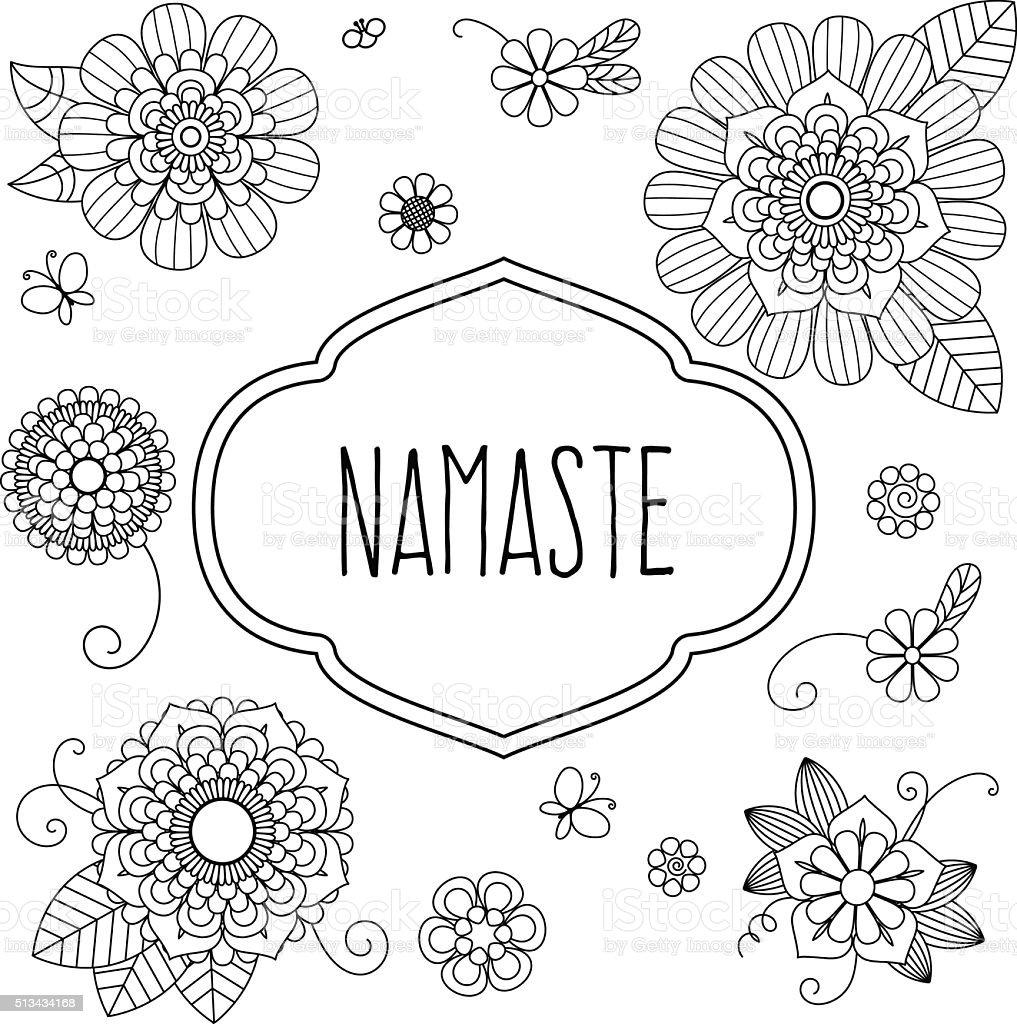 Indian welcome greeting - Namaste vector art illustration