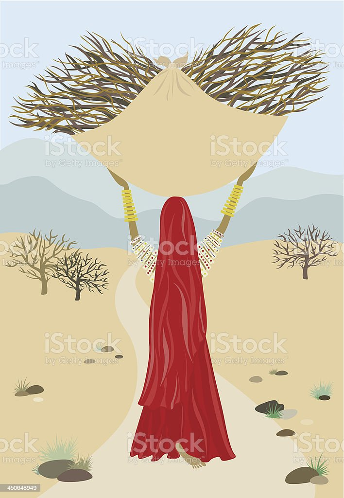 Indian woman royalty-free stock vector art