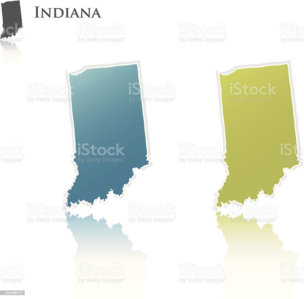 Indiana state graphic royalty-free stock vector art