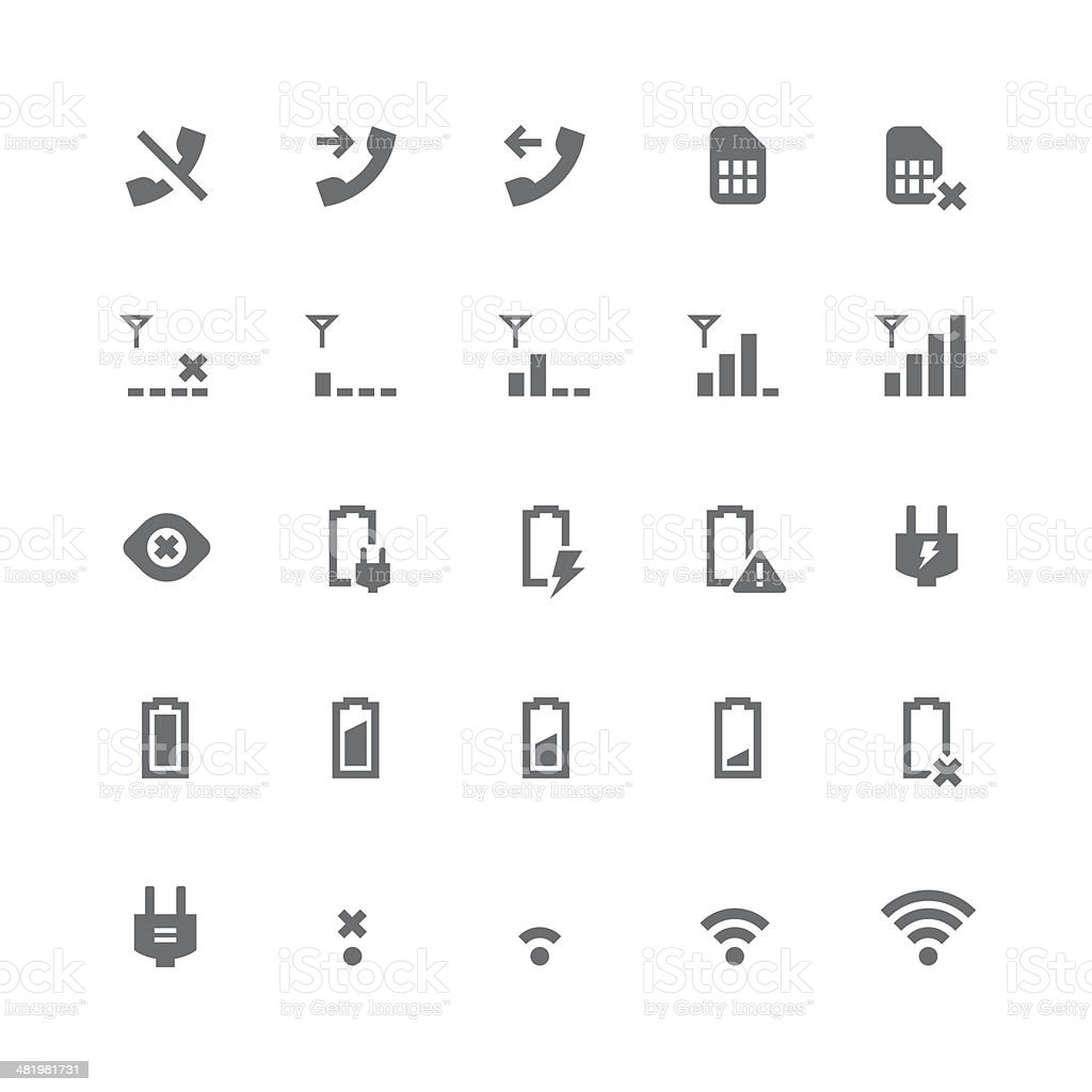 Indicator icons | retina series vector art illustration