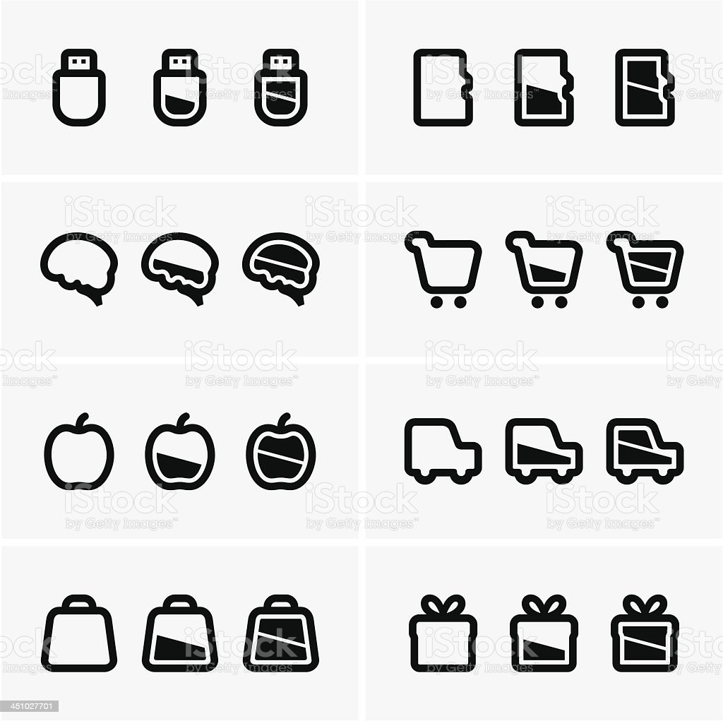 Indicator icons royalty-free stock vector art