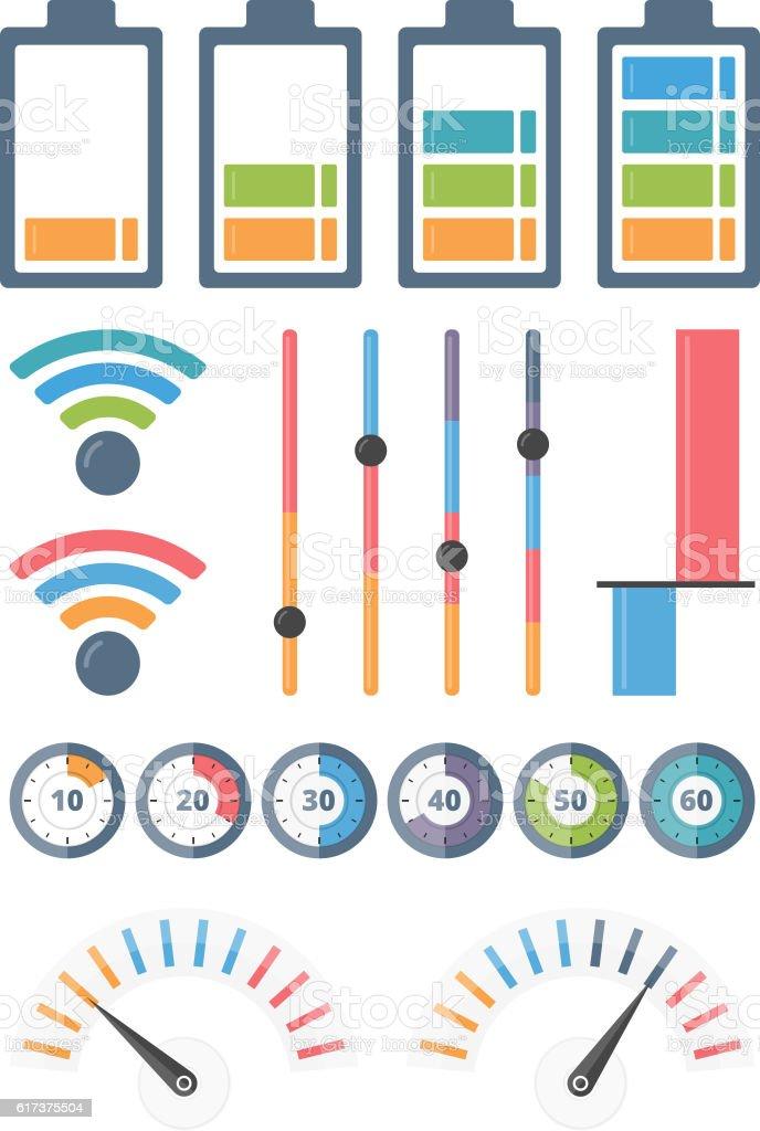 Indicators vector art illustration