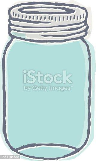 Indie Mason Jar stock vector art 454184855 | iStock