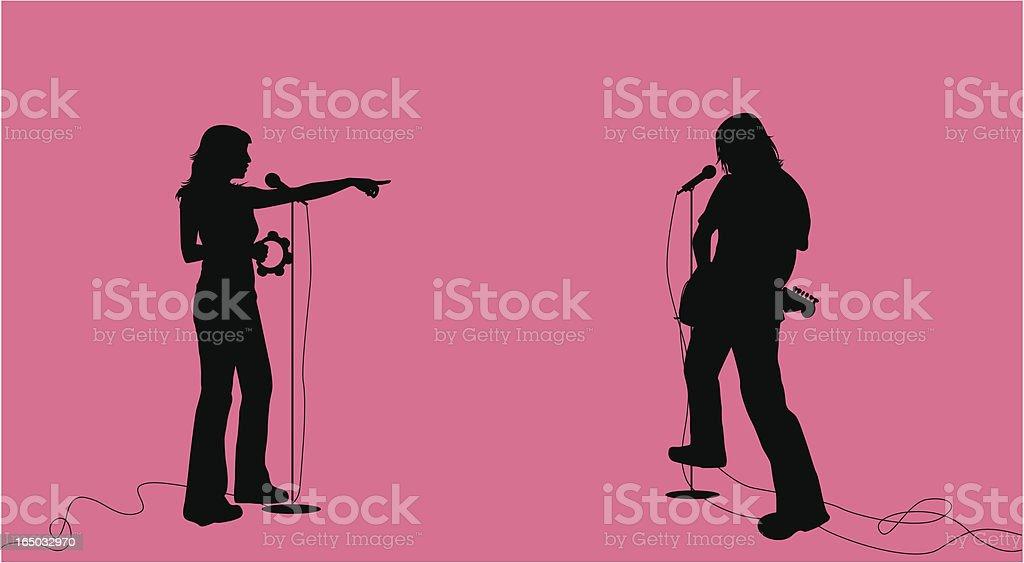 Indie Rock Duo ( Vector ) royalty-free stock vector art