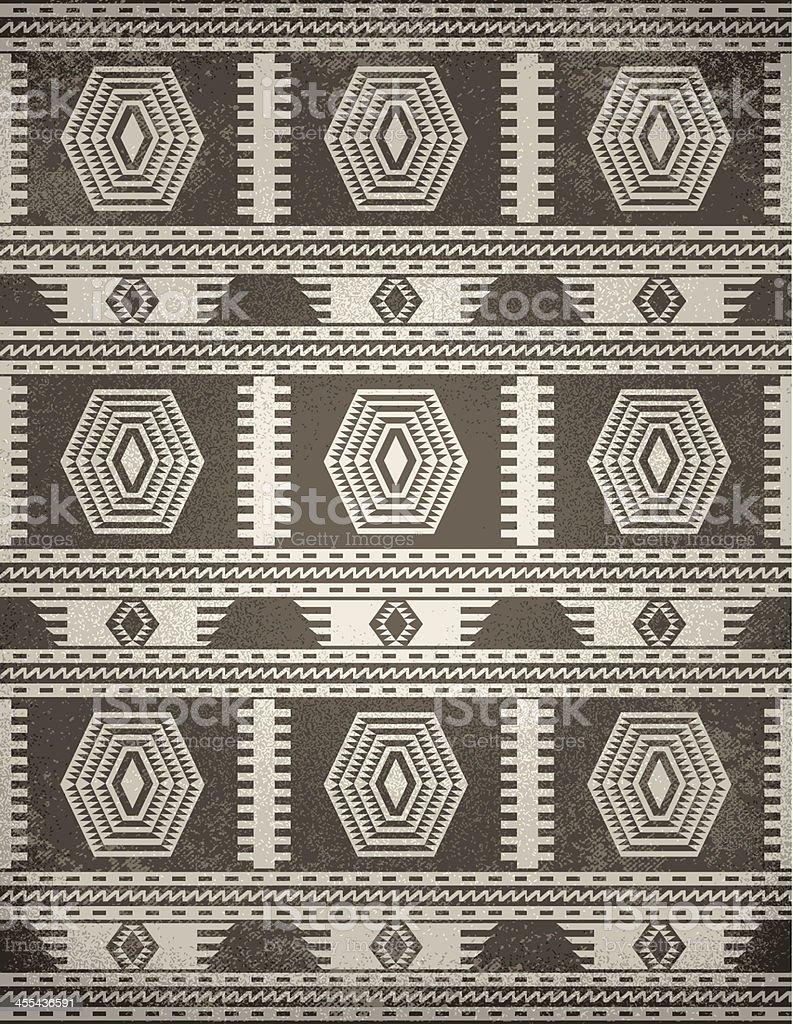 Indigenous Rug (Grunge) vector art illustration