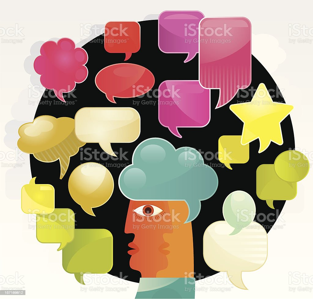 Individual Thoughts royalty-free stock vector art