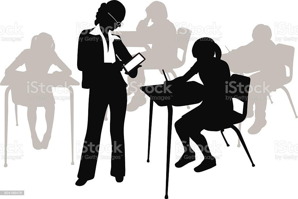 IndividualAttention vector art illustration