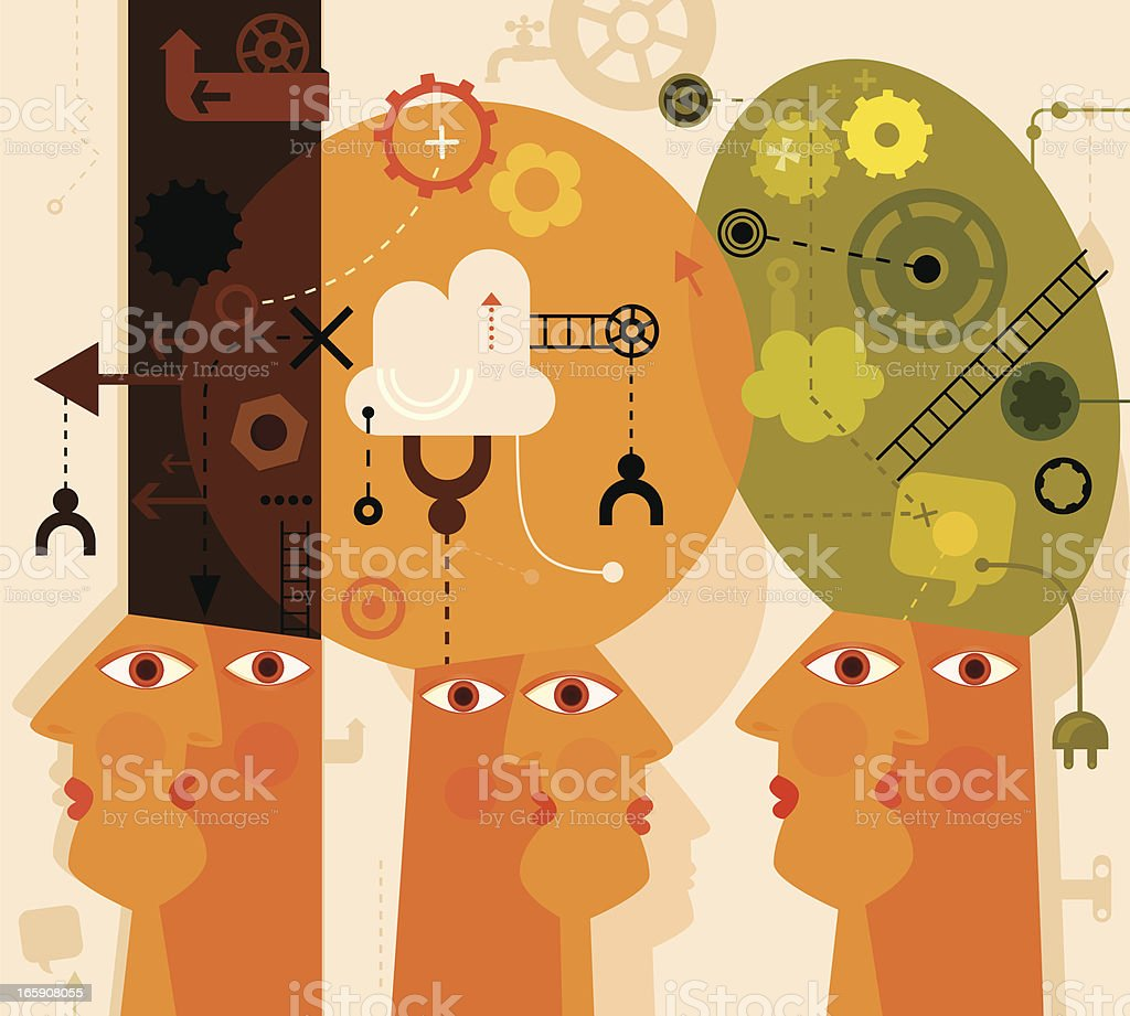 Individuality royalty-free stock vector art