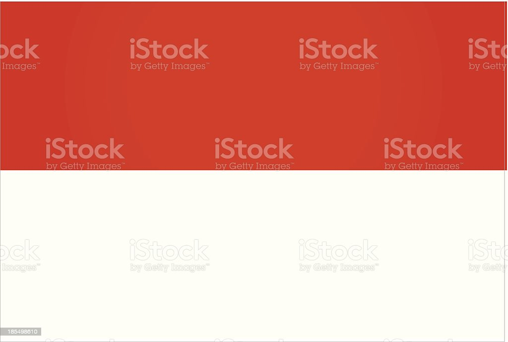 Indonesia Flag royalty-free stock vector art