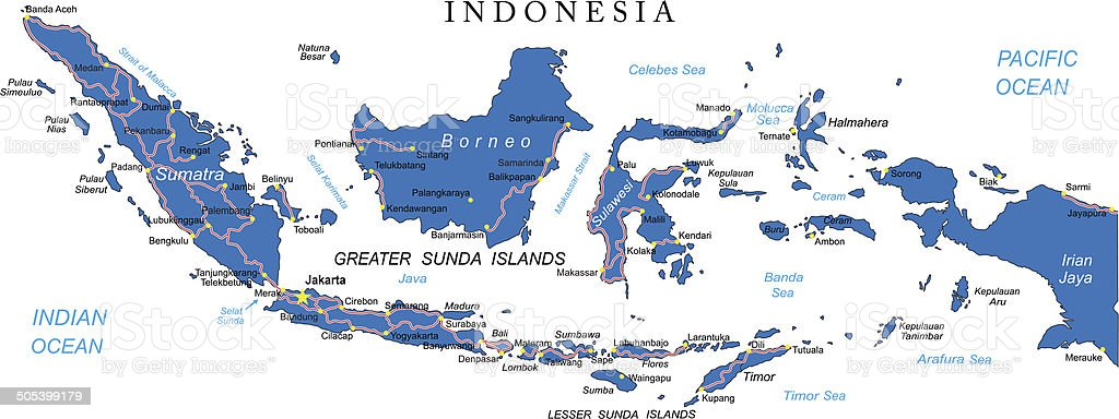Indonesia map royalty-free stock vector art