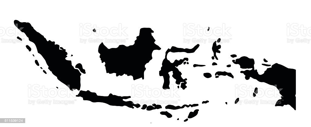 Indonesia map vector art illustration