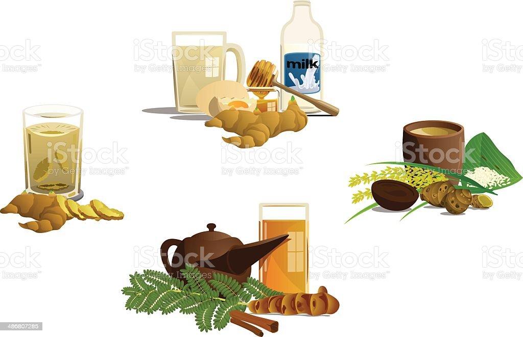 Indonesian Traditional Drink vector art illustration