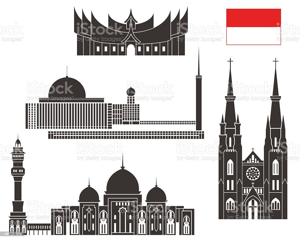 Indonesia vector art illustration
