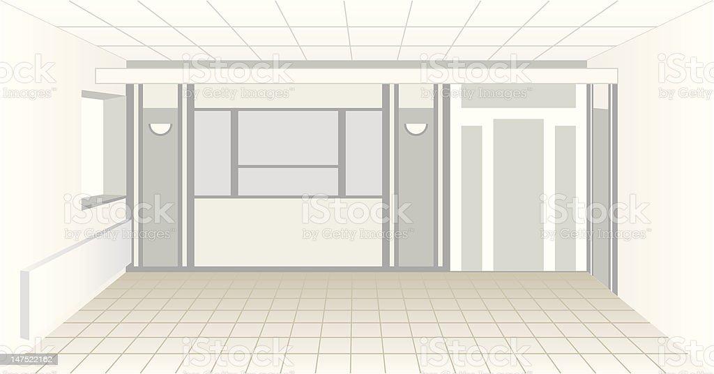 Indoor scene (vector) royalty-free stock vector art