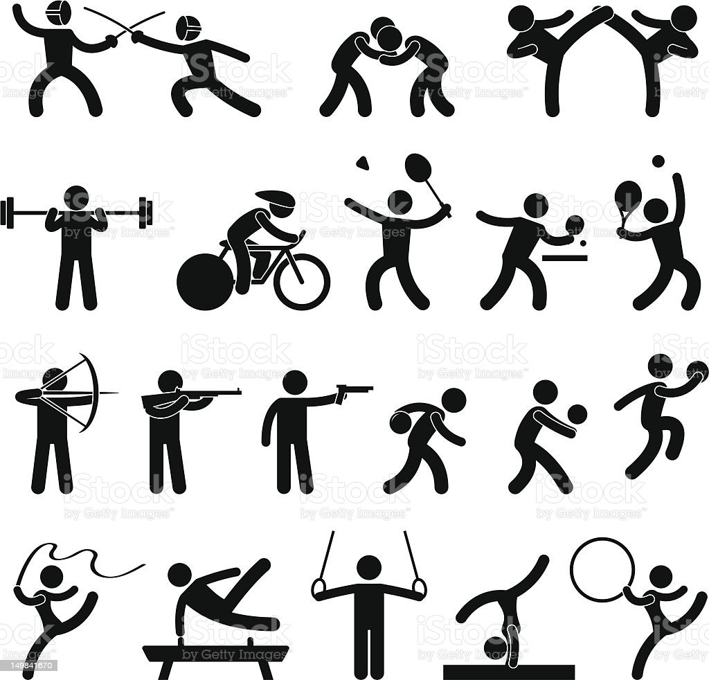 Indoor Sport Game Pictogram royalty-free stock vector art