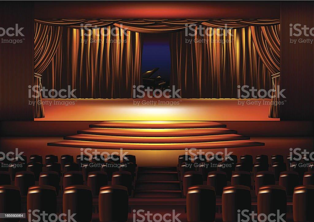 Indoor Stage royalty-free stock vector art