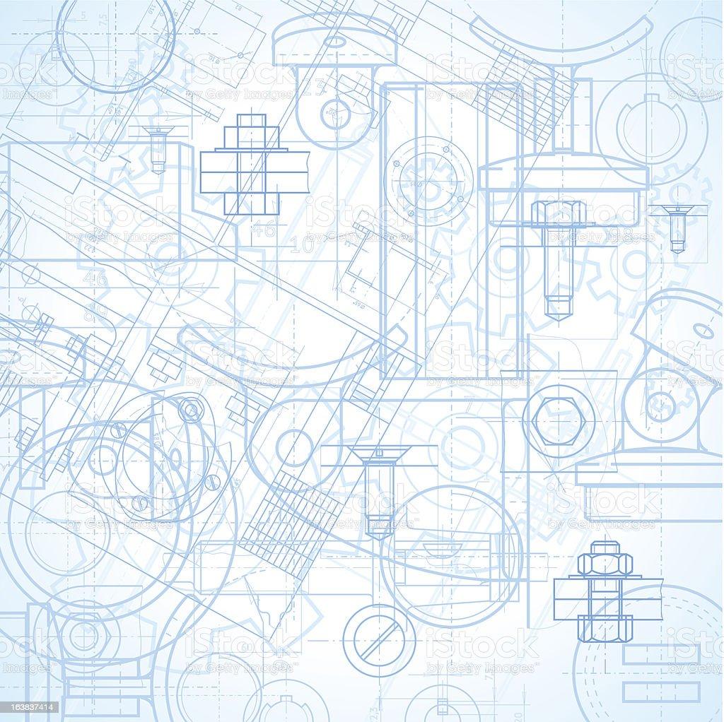 Industrial background vector art illustration