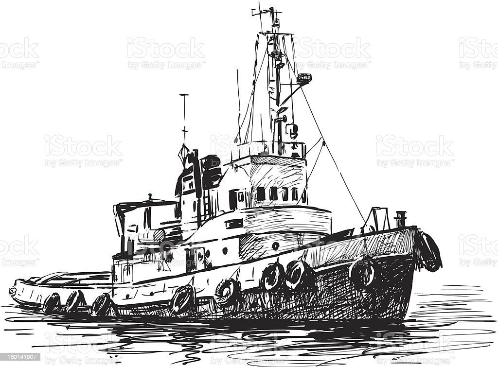 industrial boat royalty-free stock vector art