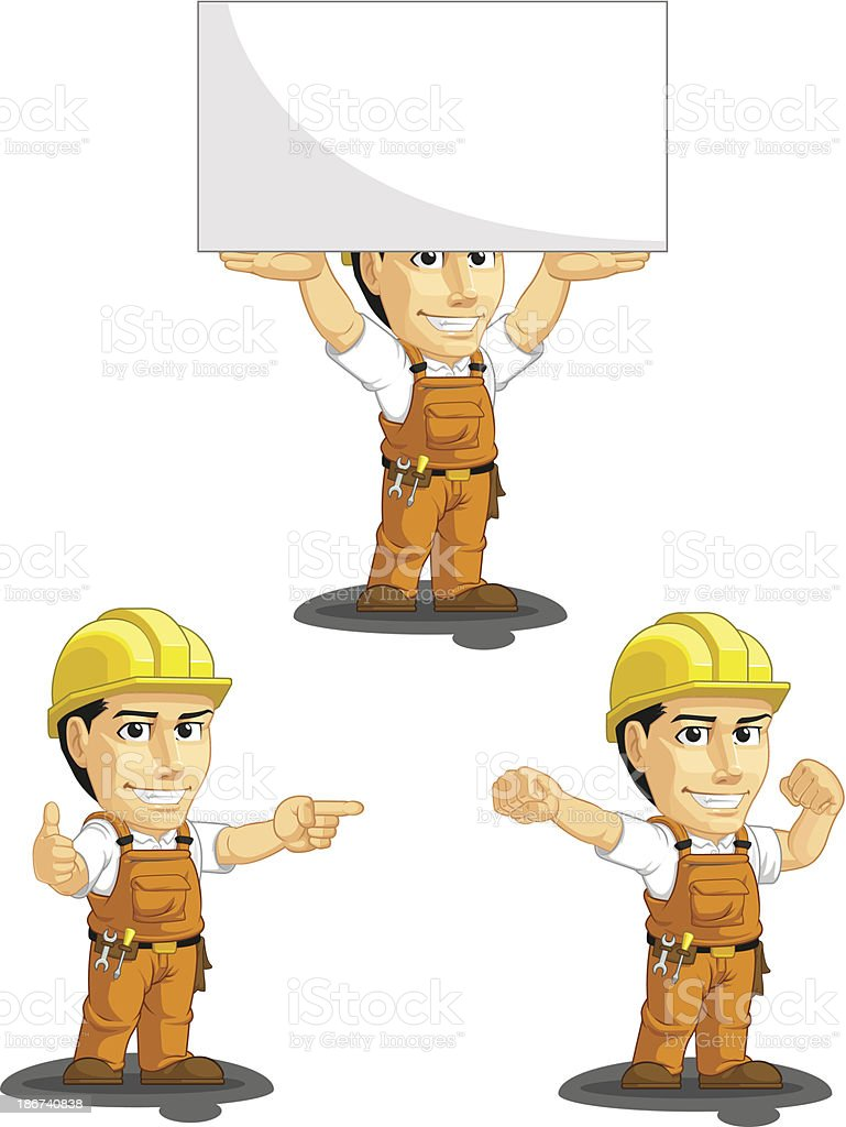 Industrial Construction Worker Customizable Mascot 8 royalty-free stock vector art