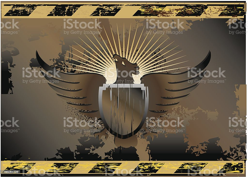 industrial eagle shield emblem royalty-free stock vector art