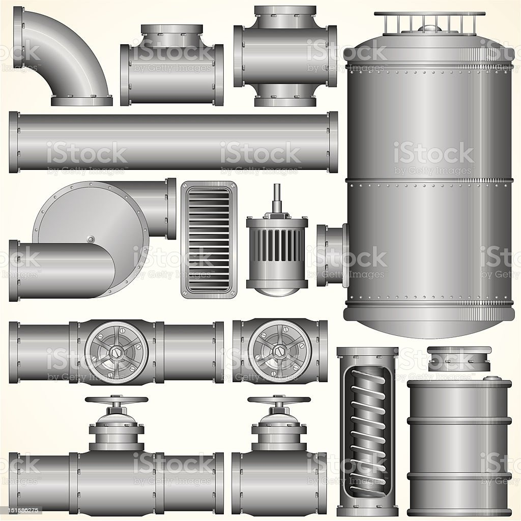 Industrial Elements vector art illustration