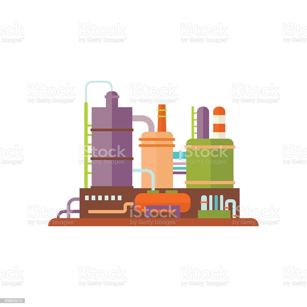 Industrial Factory Buildings Vector Illustration vector art illustration