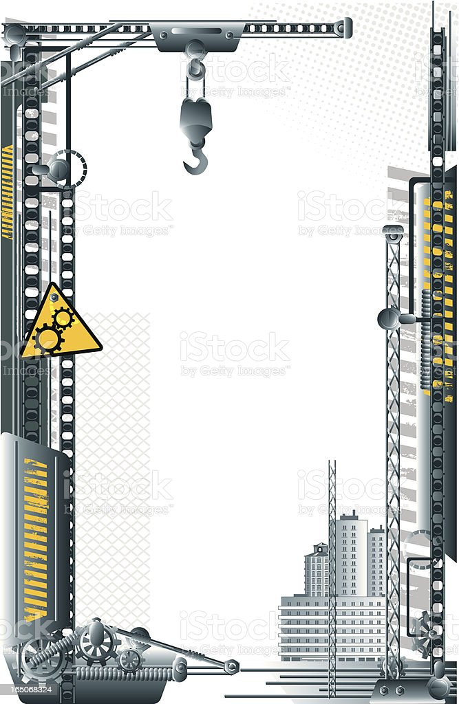 Industrial frame - construction royalty-free stock vector art