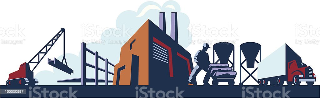 Industrial Horizon royalty-free stock vector art