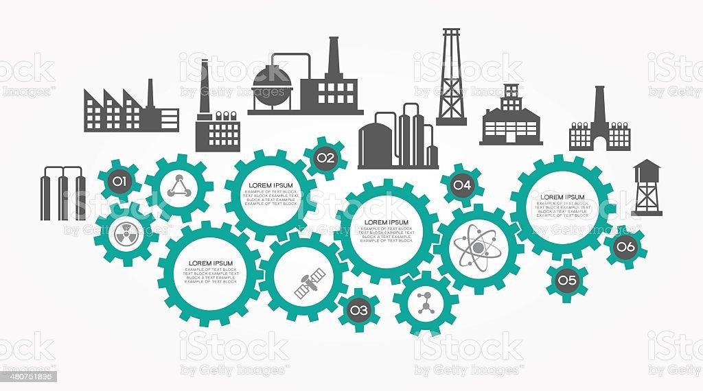 Industrial infographics background vector art illustration