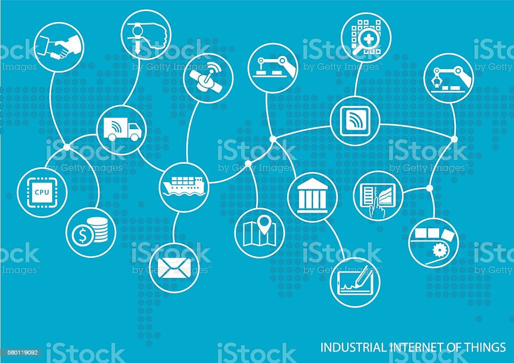 Industrial internet of things (IOT) concept. vector art illustration