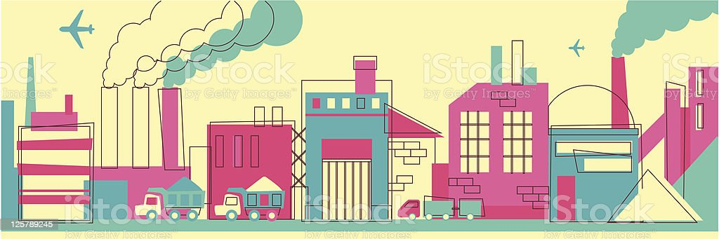 Industrial landscape royalty-free stock vector art