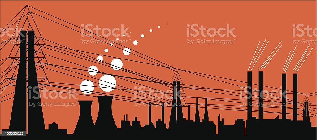 Industrial / Nuclear City ( Vector ) royalty-free stock vector art