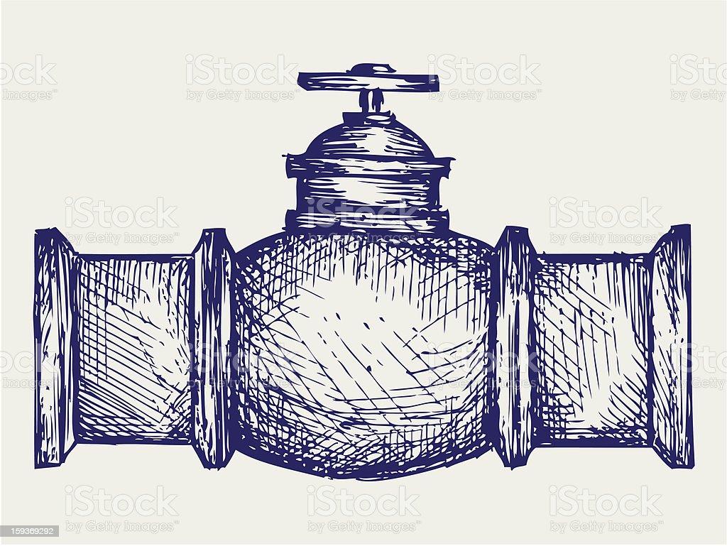Industrial pipeline part royalty-free stock vector art