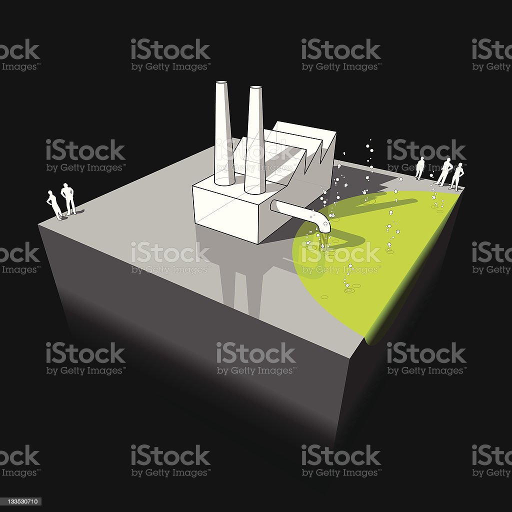 Industrial pollution diagram royalty-free stock vector art