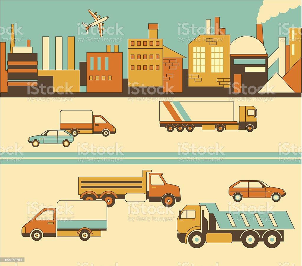Industrial scene royalty-free stock vector art