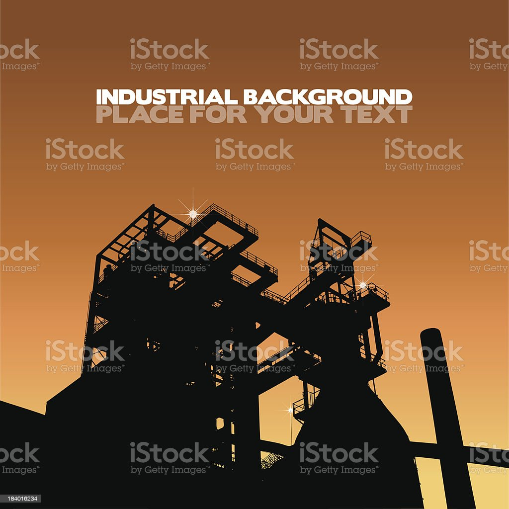 Industrial silhouette vector art illustration