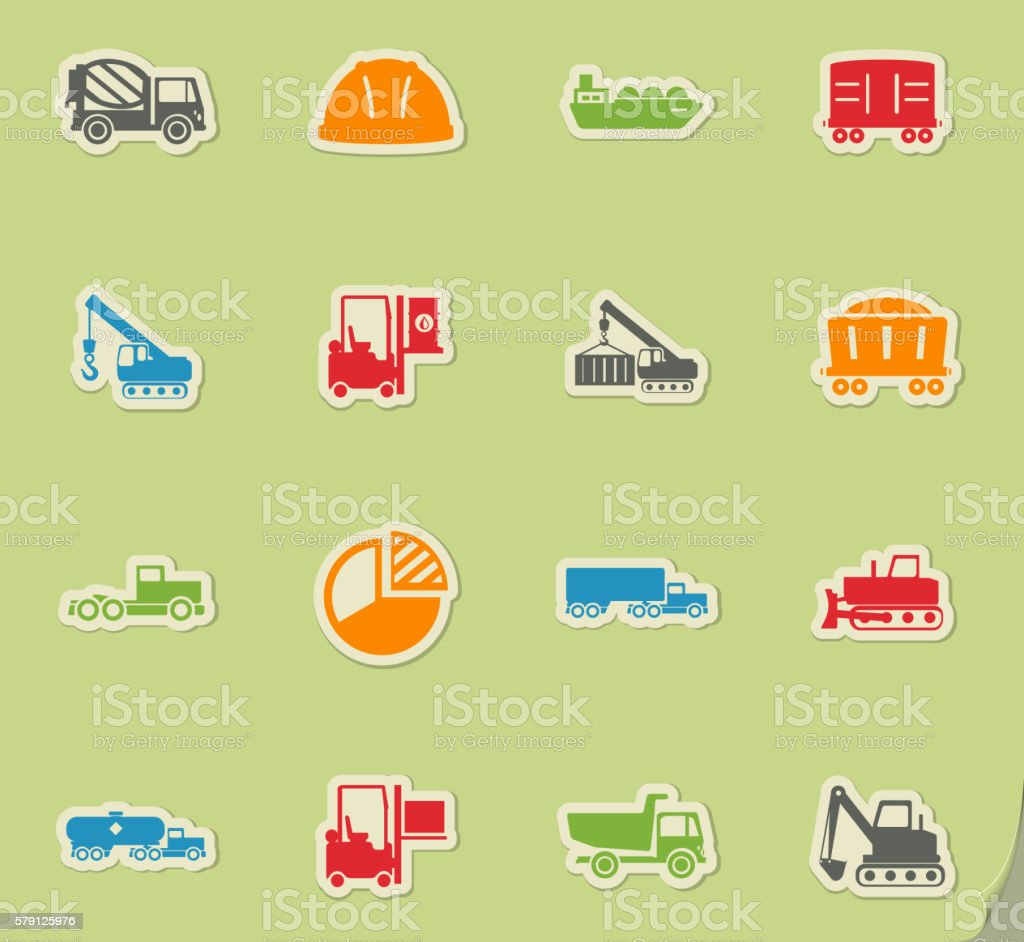 Industrial simply icons vector art illustration