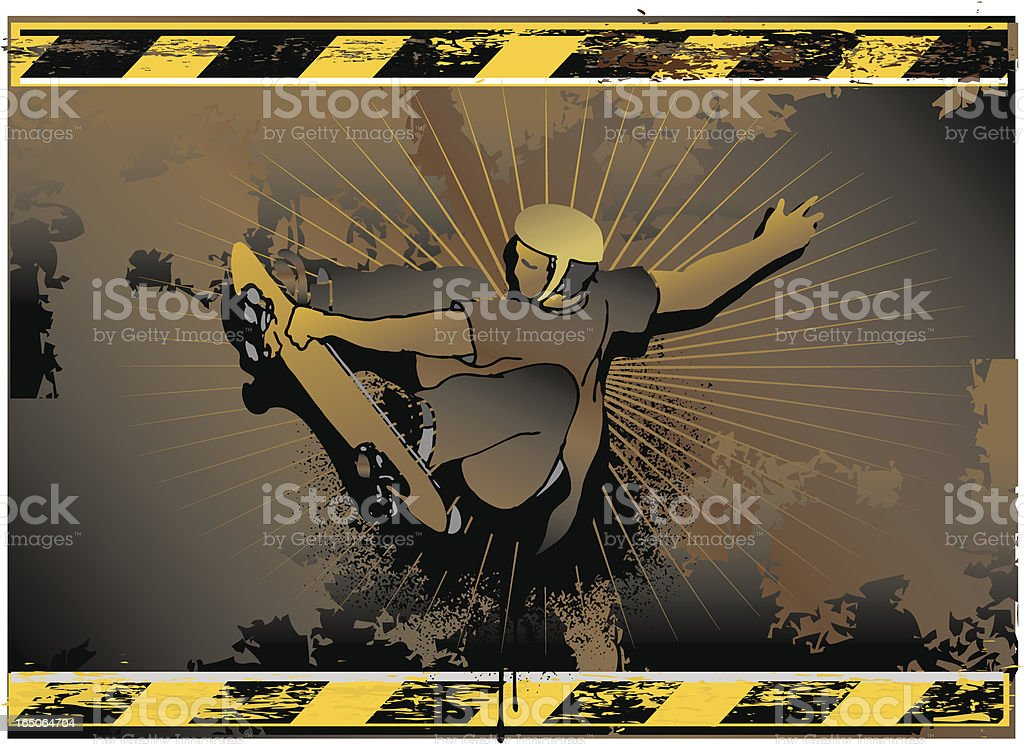 industrial skateboarding sign royalty-free stock vector art
