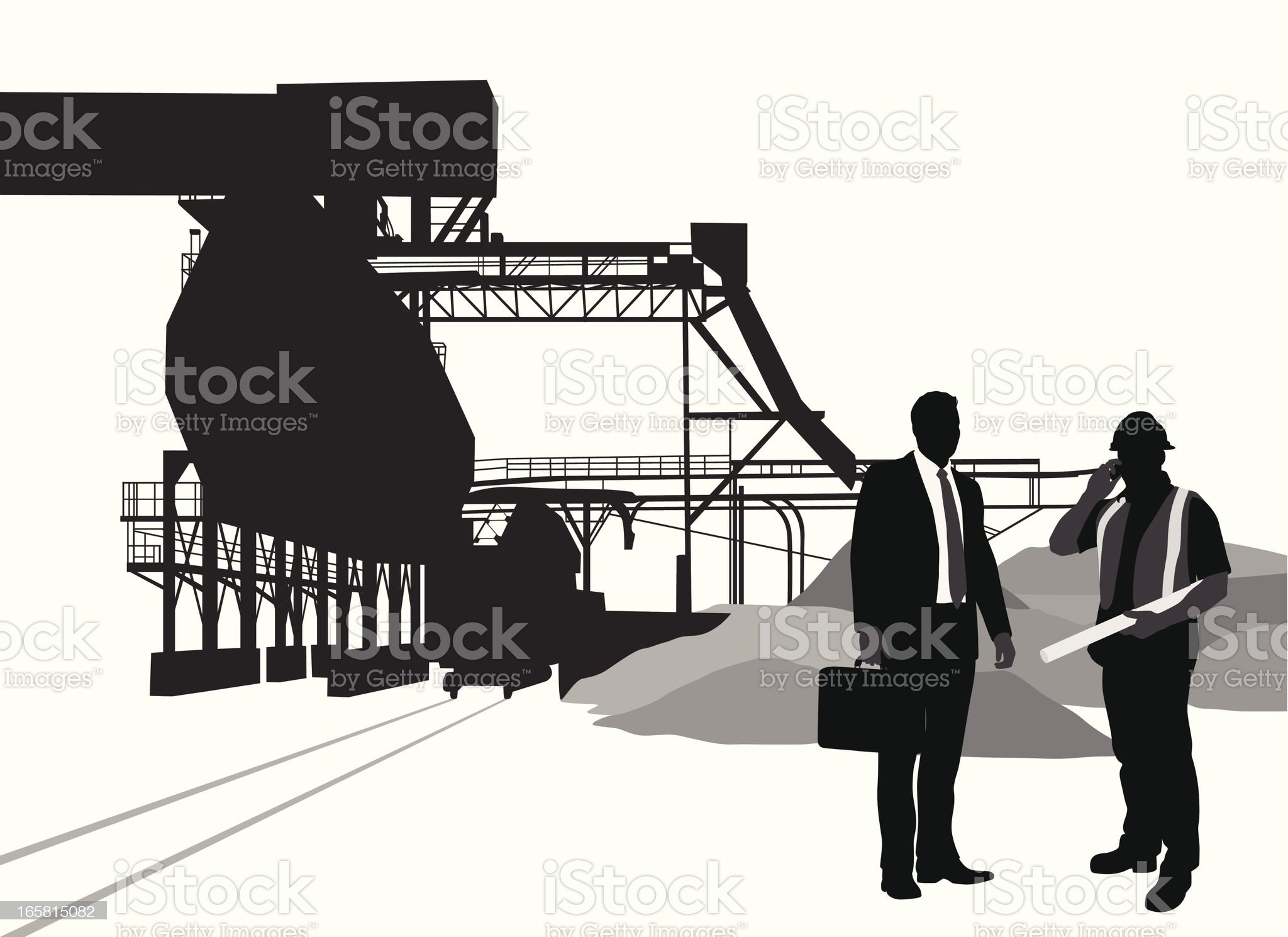 Industrial Vector Silhouette royalty-free stock vector art