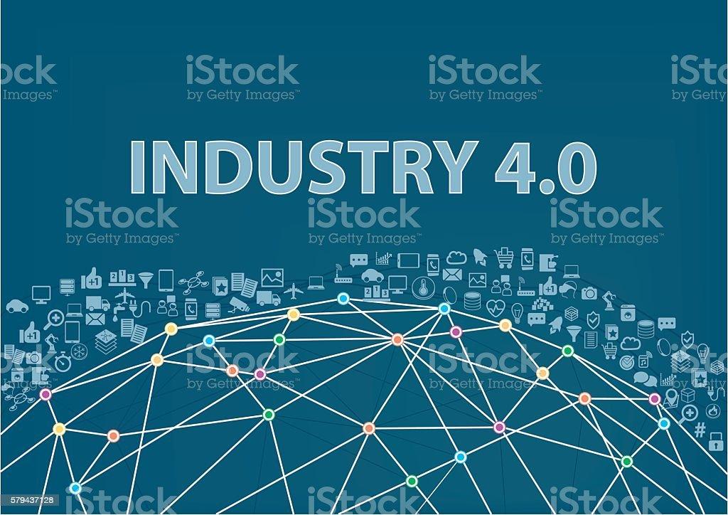 Industry 4.0 vector illustration background. Internet of things vector art illustration