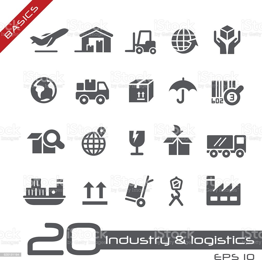 Industry and Logistics Icons - Basics vector art illustration