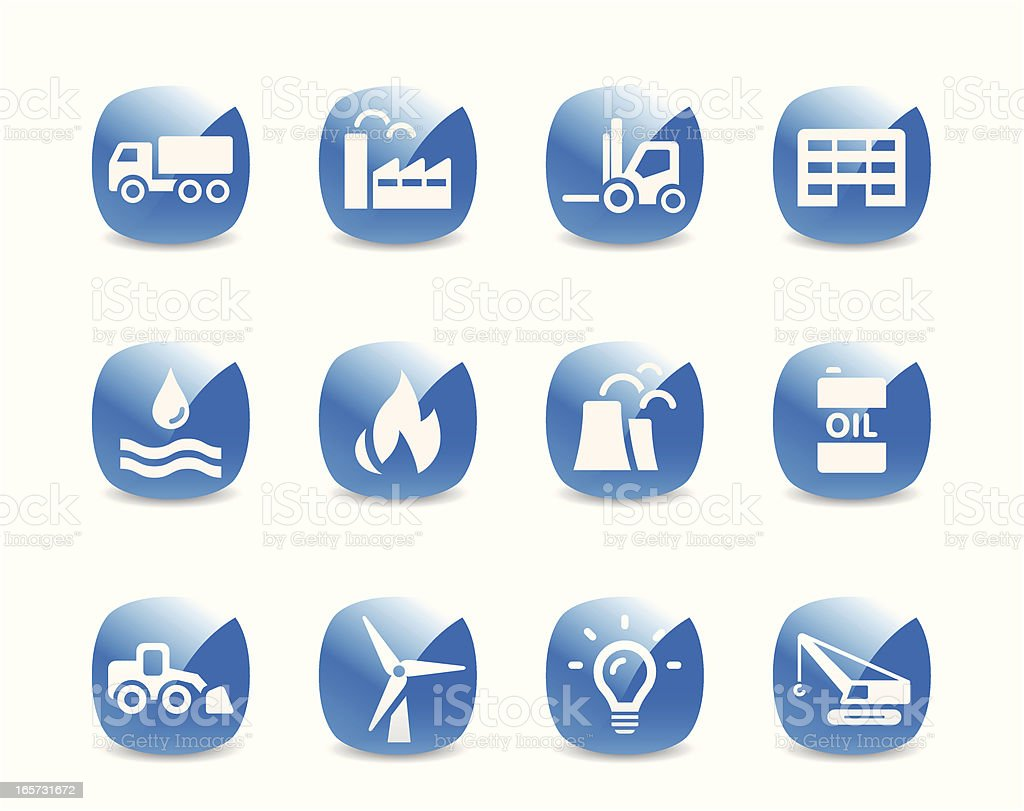 Industry Icon Set royalty-free stock vector art