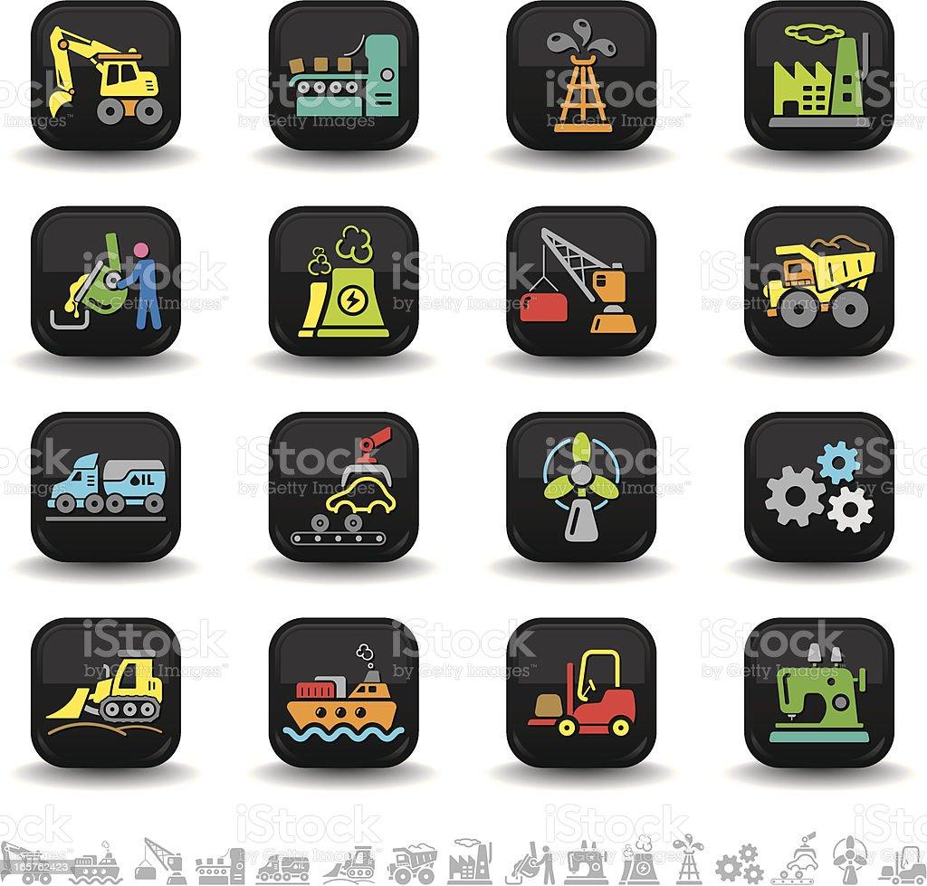 Industry icons | bbton series royalty-free stock vector art
