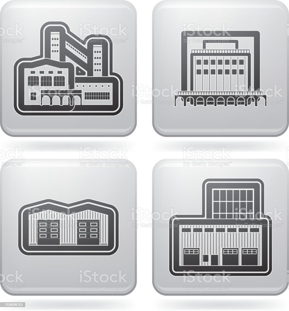 Industry Icons: Factory royalty-free stock vector art