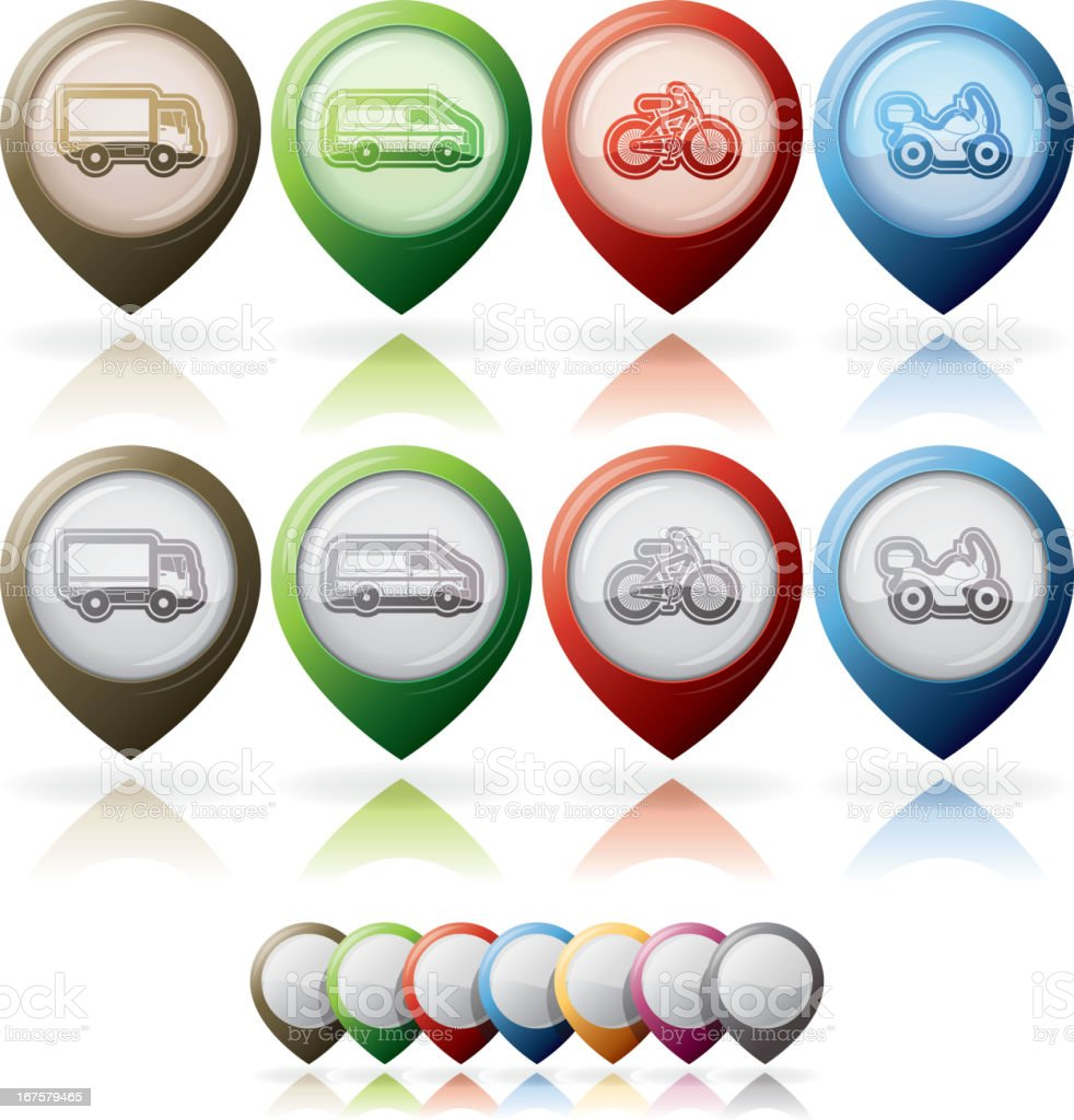 Industry Icons: Transportations royalty-free stock vector art