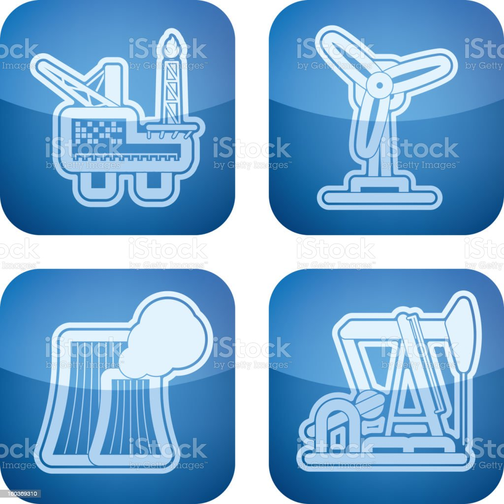 Industry Icons vector art illustration