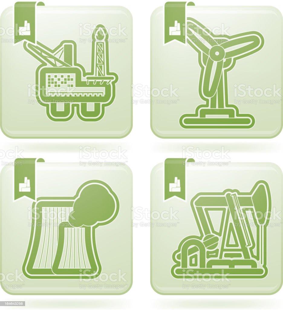 Industry Icons vector art illustration