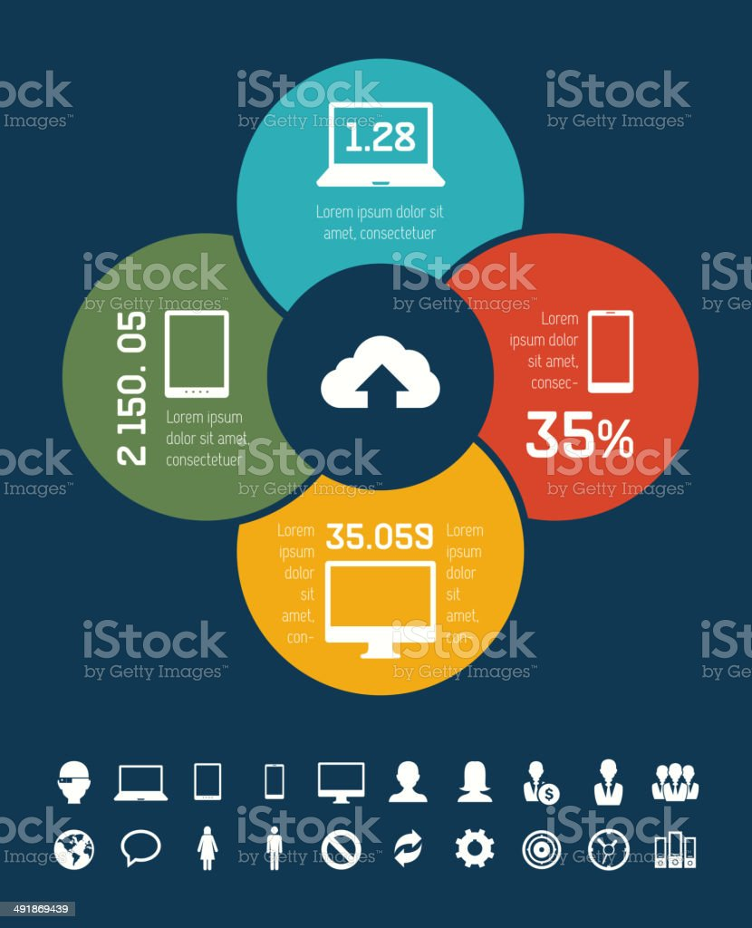 IT Industry Infographic Elements royalty-free stock vector art