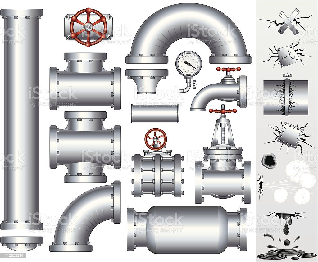 Industry Pipeline vector vector art illustration